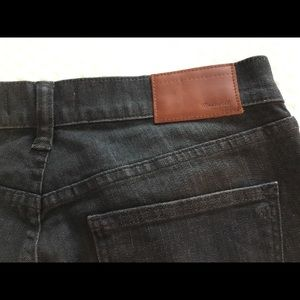 Madewell black, slim boy jeans